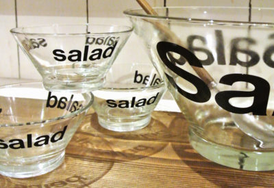 70'S USA Glass Salad Bowl