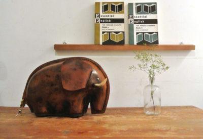 70'S 鴻池製作所 Leather Craft Bank 「Elephant」