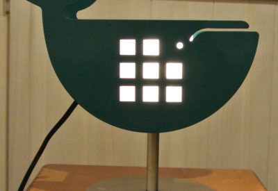 70'S Steel Whale Table Lamp