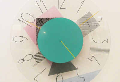 80'S Postmodern Design Wall Clock