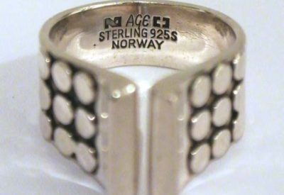 60'S Norway PLUS AGE Sterling Silver Ring