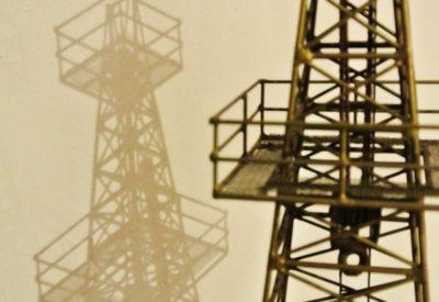 50~60'S USA Oil Drilling Rig Metal Objet