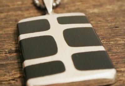 """70'S  """" Quintin V """"  Silver Pendant"""