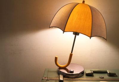 80'S Umbrella Table Lamp