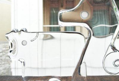"""""""Sasaki Crystal"""" GlassFigure Design:Denji Takeuchi (竹内伝治)"""