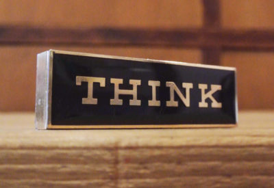 "Vintage IBM ""THINK""  Desk  Top Ornament"