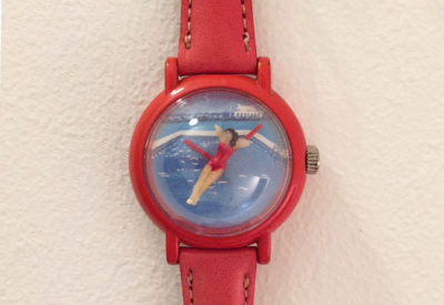 80'S Swimming Girl Watch ( Swiss made movement )