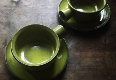 70'S GermanPottery SoupCup & Saucer