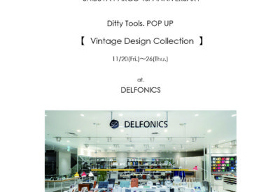 """渋谷PARCO1st Anniversary""""DELFONICS""""にてPOP UPを開催します。"""